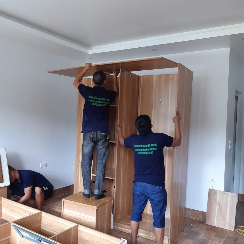 Tháo lắp tủ gỗ đựng quần áo tại Hạ Long