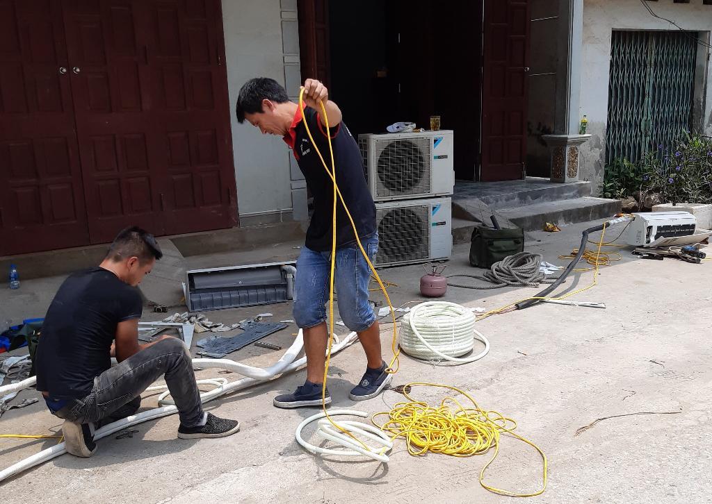 Thợ tháo lắp bảo dưỡng sửa chửa điều hoà tại Hạ Long