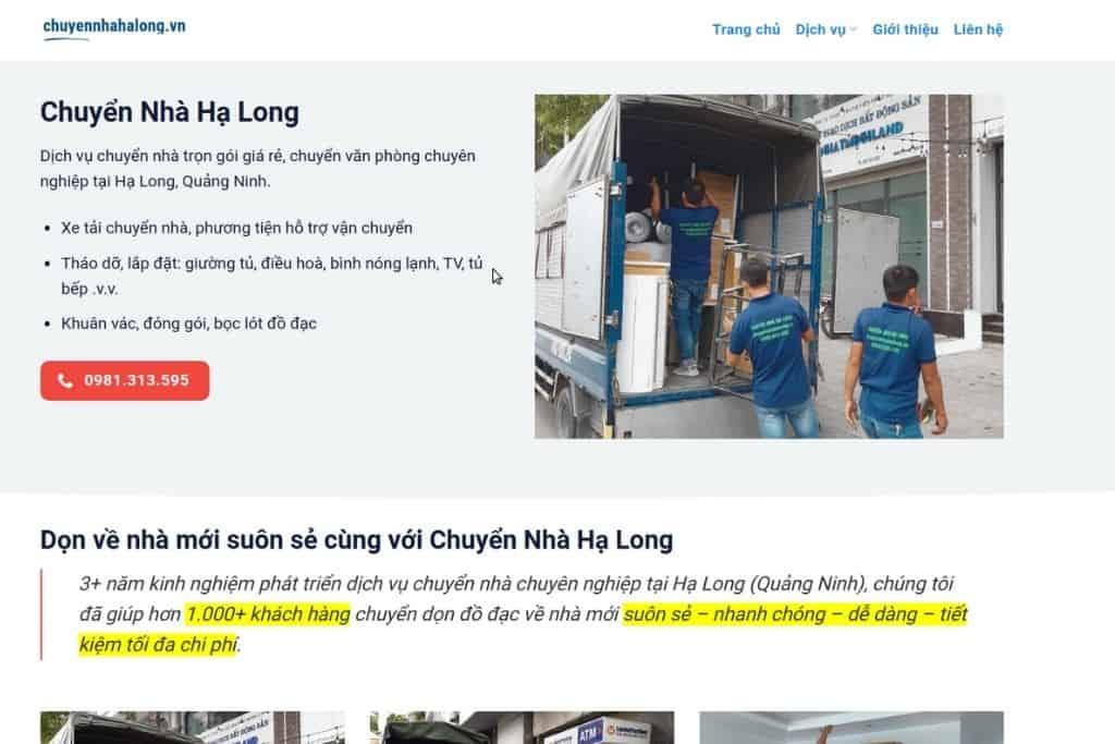 Dịch vụ chuyển nhà trọn gói uy tín tại Hạ Long